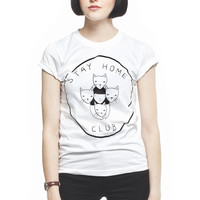 Stay Home Club Women's Fitted T-Shirt