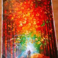 ALTAR OF TREES — Oil Painting On Cotton Canvas By Leonid Afremov  HUGE SIZE