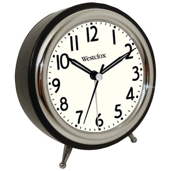 Westclox(R) 75032 Classic Retro Alarm Clock with Chrome Bezel