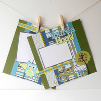 12x12 Premade Scrapbook Page s For Boys Two by TheCroppingBlock