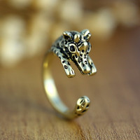Super Cute Giraffe Animal Ring