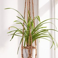 Wooden Bead Plant Hanger | Urban Outfitters