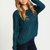 Teal Chunky Knit Sweater