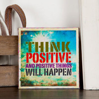 THINK POSITIVE MINI WALL ART