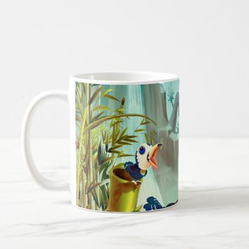 Apple Green Blue Tropical Landscape Mug
