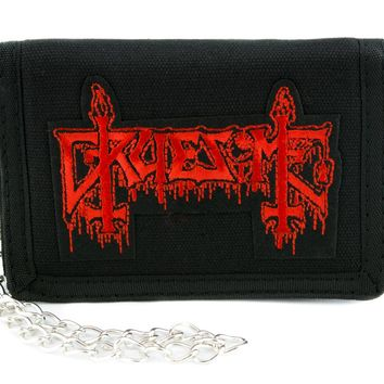 Gruesome Death Metal Patch Iron on Applique Alternative Clothing Heavy Metal Music