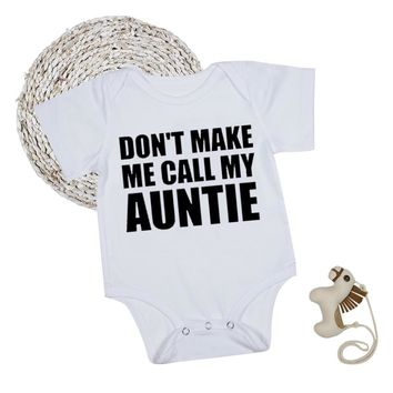 Auntie Baby Clothes Boy Girl Bodysuits Short Sleeve White Summer Funny Baby Onesuit Infant Toddler Newborn Clothes 1st Birthday