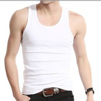 Men's Tank Tops undershirt vest shoulder width vest sports