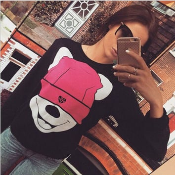 Fashion cartoon printing sweater