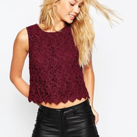 ASOS All Over Lace Shell Top