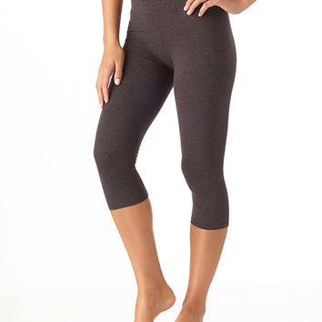 Organic Cotton Everyday Cropped Leggings - Grey
