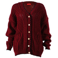 Influence Louise Maroon Cardigan