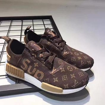 Adidas x Supreme x LV Women Running Breathable Sneakers Sport Shoes