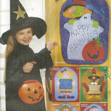 Fall Door Decorations Butterick 6242 Halloween, Back to School, Thanksgiving, Harvest