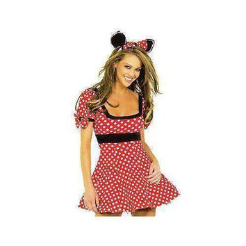 Cute Minnie Mouse Girl/Women Costume Fancy Cosplay Dress
