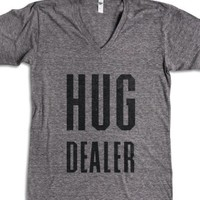 Hug Dealer-Unisex Athletic Grey T-Shirt