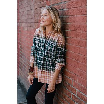 Crossroads Plaid Button Down - Multi