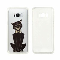 Cute Black Cat Halloween Transparent Silicon Plastic Phone Case Samsung Galaxy S8 Plus Samsung Galaxy Covers Emerishop (Samsung S8)