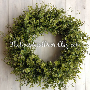 Eucalyptus Wreath - Spring Wreath - Eucalyptus Door Hanger - Spring Wreath - Year Round Wreath