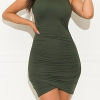 Kill Them With Kindness Dress Olive