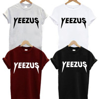 YEEZUS T-shirt Kanye West Album - Unisex - Men Woman Girls Boys Teen Adults Shirts Shirt Tshirts Jesus Sophmore Kanye West Kardashian Jenner