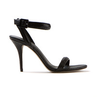 ALEXANDER WANG BLACK LEATHER HIGH-HEELED SANDALS
