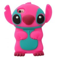 Peath Disney 3d Stitch Movable Ear Silicone Case Cover for Iphone 4 and 4s Xmas Gift:Amazon:Cell Phones & Accessories