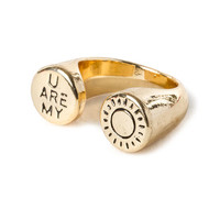 Gold You Are My Sunshine Open Band Ring