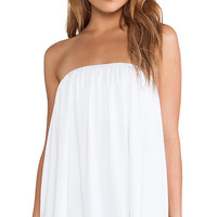 Susana Monaco Chloe Strapless Top in White