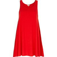 River Island Womens Bright red longline swing tunic