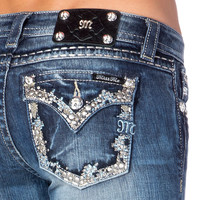 Miss Me Women's Stud Embellished Boot Cut Jeans