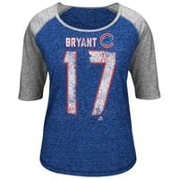 Majestic Chicago Cubs Kris Bryant Baseball Tee - Women's, Size:
