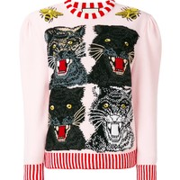 Indie Designs Tiger Intarsia Sweater