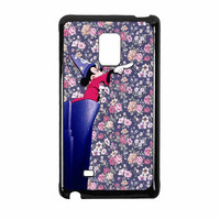 Mickey Mouse The Wizard Floral Vintage Samsung Galaxy Note Edge Case