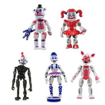at  Toys Action Figure Sister Location Horror Game Funtime Freddy Ballora Circus Baby's Pizza World Figurine