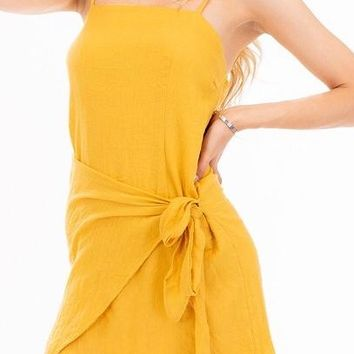 SHEILA SUNNY YELLOW WRAP DRESS