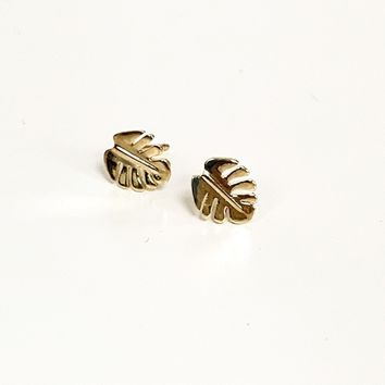 Mini Monstera Studs