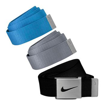 Licensed Golf Nike  Men's 3 in 1 Web Pack Belts, One Size Fits Most - Select Colors!
