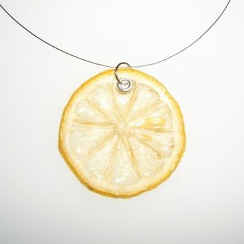 Fruit Jewelry - Real Lemon Necklace