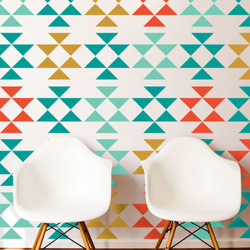 Modern Tribal Triangle Pattern