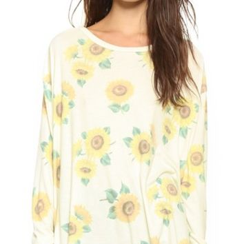 Contempo Sunflower Effortless Tee