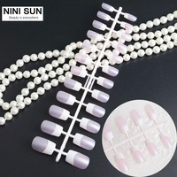 3 X Nail Art Tips 24pcs French Nep nagels False Nails ABS Half Fake Nails Faux Ongles For UV Gel Tips Girls/Bride Pre Designed