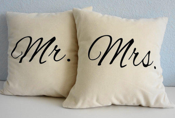 Mr And Mrs Throw Pillows Wedding From Pillows4fun