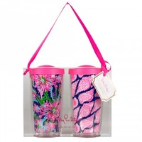 Lilly Pulitzer Insulated Tumbler Duo - Navy Trippin and Sippin and Cute As Shell