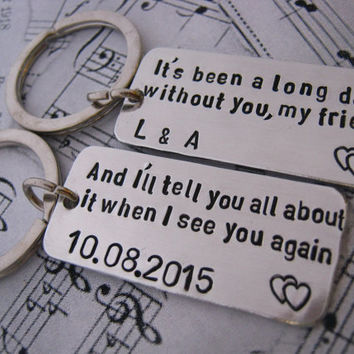 Long Distance Relationship See You Again SET Of 2 Anniversary