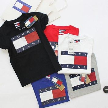 Tommy Hilfiger classic tide brand men and women T-shirts F
