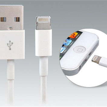 USB Data Charging Cable for iPhone 5, iPod touch 5, iPod Nano 7, iPad mini/4 1.0 m Search (White)