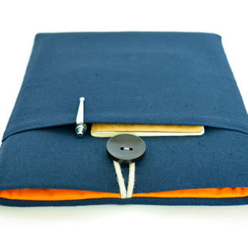 iPad Air Case, iPad Sleeve, Padded Unisex iPad Air Cover Samsung Galaxy Tab S 8.4 Custom Fit Tablet Sleeve Case - Navy