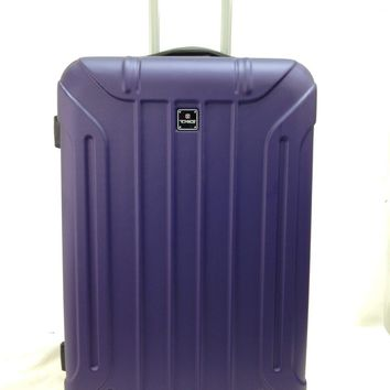 NEW TAG Laser 24'' Hard Spinner Lightweight Luggage Travel Suitcase Purple