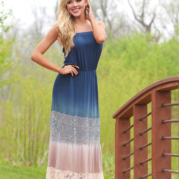 Everything Changes Ombre Maxi Dress